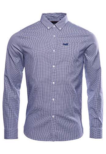 Photo of Superdry Men's button down shirt, Broken blue gingan., S