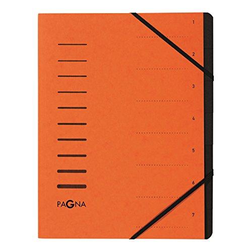 Pagna 4005812 - Carpetas clasificadoras (7 apartados, cartón prensado)