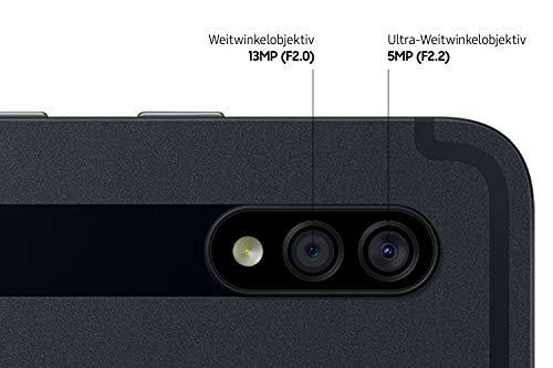 Samsung Galaxy Tab S7+, Android Tablet mit Stift, 5Gi, 3 Kameras, großer 10.090 mAh Akku, 12,4 Zoll Super AMOLED Display, 128 GB/6 GB RAM, Tablet in schwarz