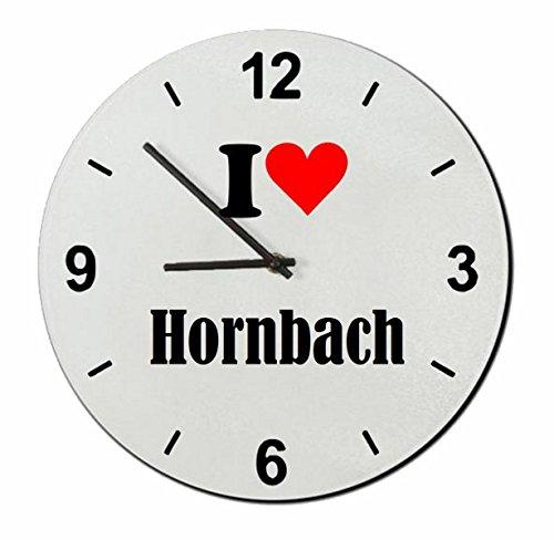 Druckerlebnis24 Glasuhr I Love Hornbach eine tolle Geschenkidee die von Herzen kommt  Wanduhr  Geschenktipp: Weihnachten Jahrestag Geburtstag Lieblingsmensch