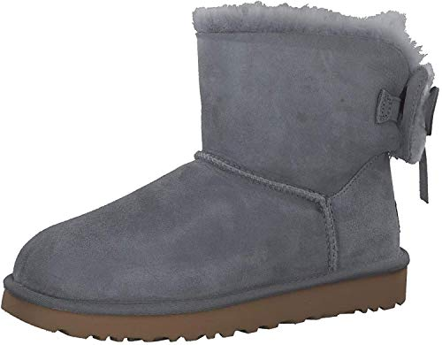 UGG Damen Classic Double Bow Mini Stiefel Grau 36