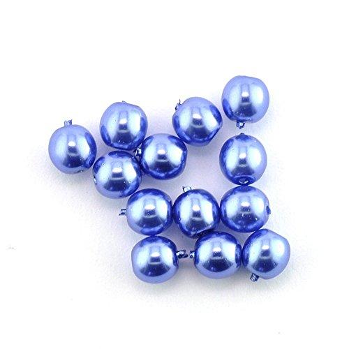 Perlen Renaissanceperlen 345 Stück glänzd undurchs. 4 mm 6010 hellblau