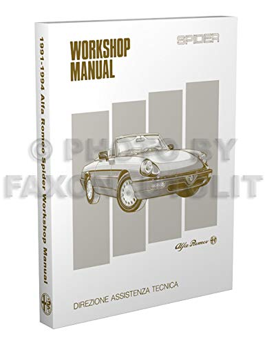1991-1994 Alfa Romeo Spider Repair Shop Manual Reprint Veloce