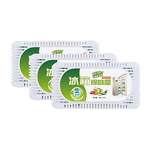 Carbón Activado, ambientador para frigorífico, Elimina el Olor y la Humedad manteniendo el frigorífico con un Olor Fresco y un Mejor Sabor de los Alimentos.