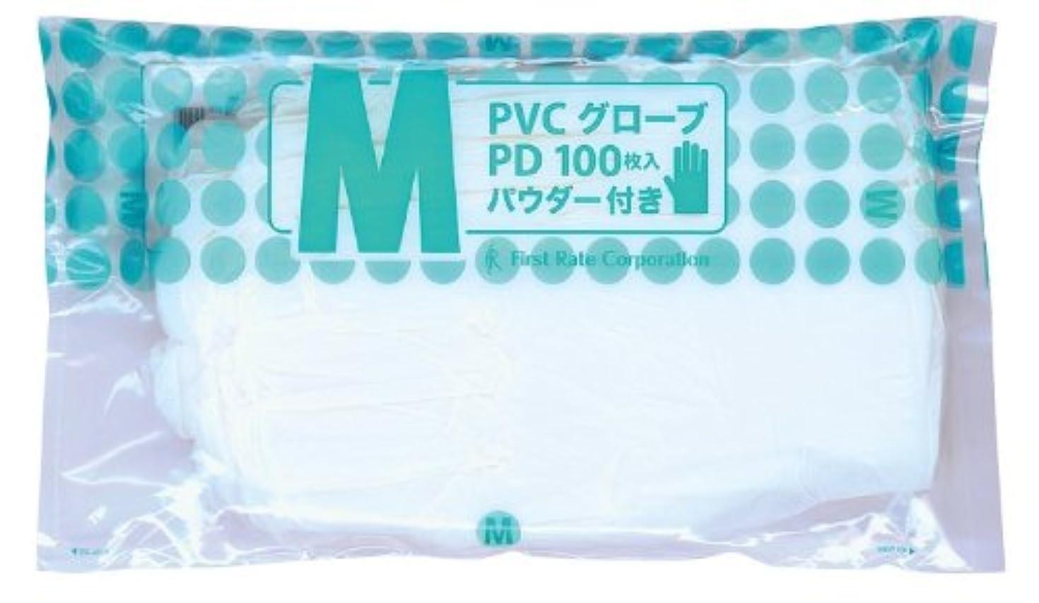 案件無礼にコウモリファーストレイト PVCグローブ PD(ポリバック仕様 FR-922(M)100マイイリ