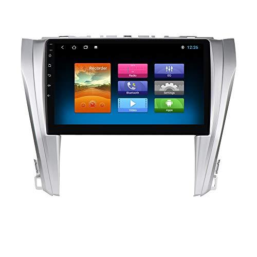 Radio de Navegación GPS para Automóvil con Pantalla Táctil 1080P de 10.1 Pulgadas, Compatible con Toyota Camry 2015 2016 2017 Versión Europea, Soporte WiFi Bluetooth Cámara Trasera SWC