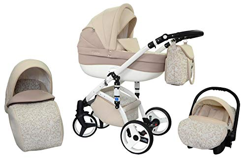 Kombi Kinderwagen Travel System Wiejar Evado T36 3in1 Buggy Sportwagen Babyschale Autositz 0-13kg + Zubehör