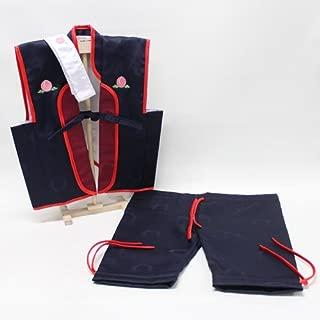 『陣羽織 桃太郎 ズボン ハチマキ 専用スタンド付き』 初節句の御祝品にカッコイイ陣羽織はいかがですか?