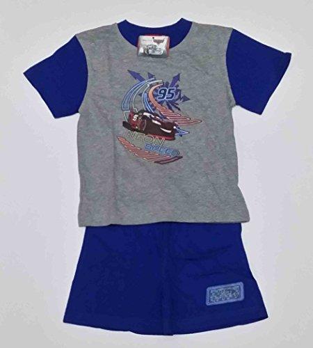 Complet T-shirt Demi Manches Et Short en coton enfant Disney Cars gris 3 ans
