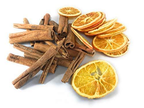 INERRA Weihnachten Potpourri Multipackung - Getrocknet Orange Scheiben und Zimtstangen - 50g Orange Slices & 50g Cinnamon Sticks