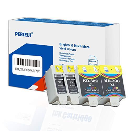 PERSEUS 30XL Cartuchos de Tinta Reemplazo para Kodak 30b 30c, Compatible con Kodak Office 2150 2170 Hero 2.2 3.1 4.2 5.1 ESP C100 C110 C115 C300 C310 C315 C330 C360, 30bxl 30cl XL (2 Negro +1 Color)
