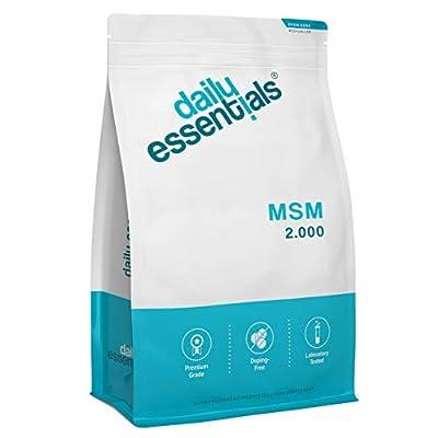 MSM - Methylsulfonylmethan - 500 Tabletten á 2000mg Tagesportion - 99,9% Reinheit - Laborgeprüft, ohne Magnesiumstearat, hochdosiert, vegan und hergestellt in Deutschland