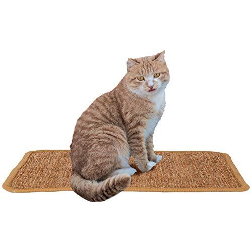 AIEX Katzen Kratzmatt, Natur Sisal Katzenkratzpads Katzenteppich Rutschfester Kratzbaum Matte für Katzenkratzkrallen und Schlafen (37x28cm)