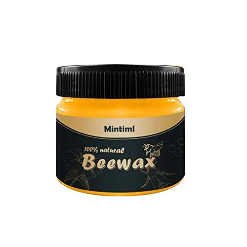 ZZSNT Beeswax Furniture Polish for Any Kind of Wood, Nourishing, Renewing, Sealing, Covering Scratches, Protecting from Drying Out, Restoring Wood's Natural Beauty.