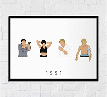 Ctychico Point Break Movie Action Crime Film Samsara Johnny Utah Bodhi Wall Art Print Painting Home Decor Gifts For Lovers Poster Amazon Ca Generic