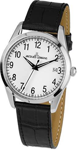 Jacques Lemans Reloj Analógico para Unisex de Cuarzo con Correa en Cuero 1-1769B