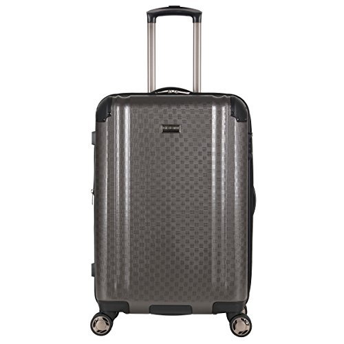 Ben Sherman Carlisle 24' Hardside Expandable 8-Wheel Spinner Checked Luggage, Charcoal