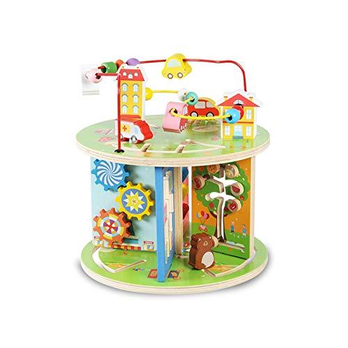 Cubo Activo Preescolar Ejecutivo Educativo Toy Bead Maze Toy Roller Roller Coster Regalo para niños Niños Boys Girls Juguetes Educativos (Color : Multi-Colored, Size : One Size)