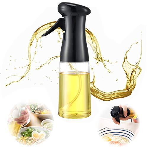Olive Oil Sprayer, Oil Spritzer, BBQ Cooking Spray Bottle, Oil Spray Dispenser for Cooking Air Fryer, Baking, Roasting, Grilling, Salad, Frying, Kitchen(7.4 Ounces)