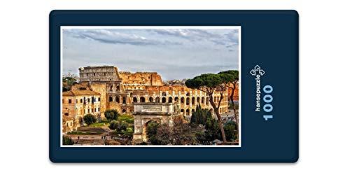 hansepuzzle 61628 Reisen - Forum Romanum, 1000 Teile in hochwertiger Kartonbox, Puzzle-Teile in wiederverschliessbarem Beutel.
