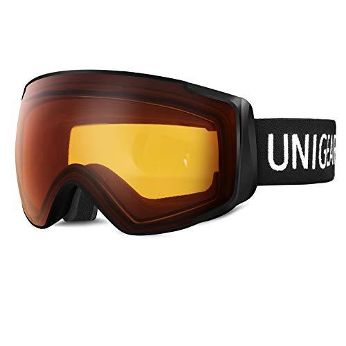 Unigear Ski Goggles, Snowboard Goggles OTG UV400 Production Double Lenses...