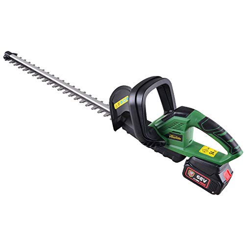 Great Price! Electric Hedge Trimmer 68V Cordless Hedge Shears Gasoline Garden Pruning Shears Househo...