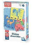 Falomir- Sílabas Divertidas. Juego de Mesa Educativo para Mejorar la lectoescritura. Puzle. (30021)