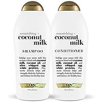2-Pack OGX Nourishing + Coconut Milk Shampoo & Conditioner Set, 25.4 Ounce