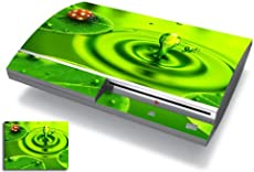 Bundle Monster Vinyl Skins Accessory For Sony Playstation PS3 Game Console - Cover Faceplate Protector Sticker Art Decal - Lady Bug