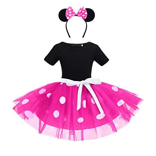 Bebé Niña Vestido de Fiesta Princesa Disfraces Tutú Ballet Lunares Fantasía Vestid Carnaval Bautizo Cumpleaños Baile para Infantiles Recién Nacido Disfraces de Princesa con Diadema 2-3 Años