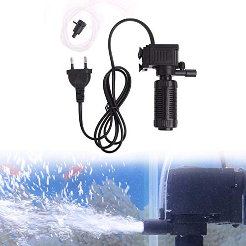 Absir 3 in 1 Mute Filter for Aquarium Fish Bowl Oxygen Submersible Water Purifier European Regulations