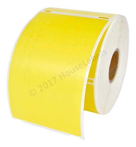 """1 Roll; 300 Labels per Roll of DYMO-Compatible 30256 Yellow Large Shipping Labels (2-5/16"""" x 4"""") - BPA Free!"""
