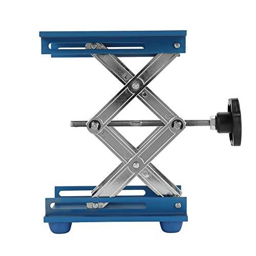 Soporte de plataforma elevadora de laboratorio de óxido de aluminio Estante de tijera 150 * 150 * 250 mm Mesa elevadora de laboratorio