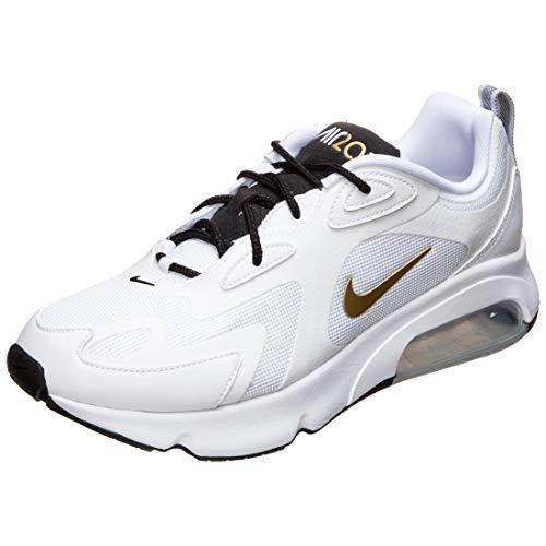 Nike Air Max 200, Chaussure de Course Homme, Multicolore White Metallic Gold Black 102, 39 EU