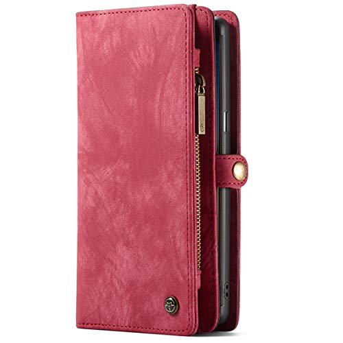 Custodia a Portafoglio Samsung S9 Plus, Cover multifunzionale con tasche per carte di credito e d'identità, Rosso