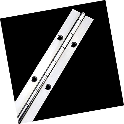 304 Stainless Steel Heavy-Duty Piano Hinge, Continuous Hinge, 1/16' Blade Thickness, Opening Width 2', 7/8' Knuckle Length, 17-6/8' Long (1 Pack)