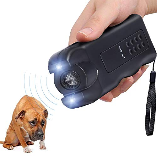 Electronic Dog Repeller,Pet Dog Trainer with LED Flashlight, Ultrasonic Deterrent Device for Your Safety and Train Your Dog