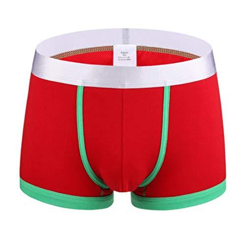 happy event Männer Unterwäsche Brief gedruckt Boxer Briefs Shorts Bulge Pouch Unterhose (XXXL, I)