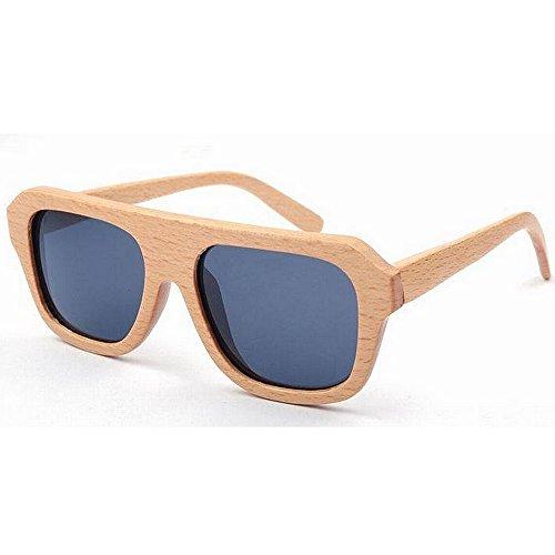 Vaxiuja-WSG Gafas de Sol polarizadas para Mujeres, Las Gafas de Sol de Madera de Las Mujeres Frescas Hechas a Mano polarizada Lente TAC Gafas de Sol Protección UV de conducción Vacaciones Pesca pl