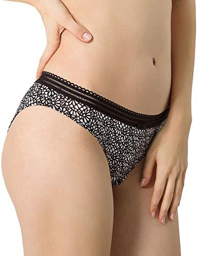 Variantie 02904-9A3 vrouwen Secrete Allure Mode Ivoor Print Bloemen Knickers Panty Volledige Korte