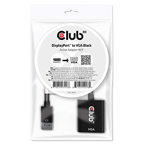 Club 3D DisplayPortTM to VGA Active Adapter M/B