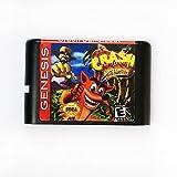 Retro Game Crash Bandicoot 16 Bit MD Game Card For Sega Mega Drive For Sega Genesis (Black)