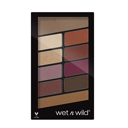 Wet n Wild - Color Icon 10 Pan Palette, Palette Ombretti Occhi Makeup, 10 Colori, Mix di Finish Shimmer e Matte per Look Giorno e Sera, Tenuta Estrema, Facile da Sfumare, Vegan, Rosé in the Air