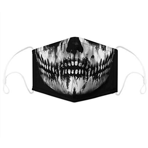LOOVEE 2 Stück Unisex Mundschutz mit Motiv Totenkopf 4 Filters Behelfsmaske Skull Lustige Mund Nasenschutz Waschbar Halstücher Kälteschutz Multifunktionstuch Motorrad Bandana Schal Sturmmaske (78)