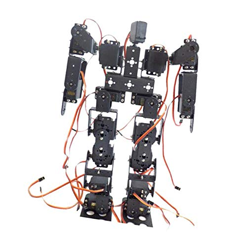 Almencla Robot Educativo Robot Bípedo de 17 DOF con Soporte Servo para Caminar