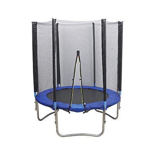 OUKANING 300 kg, 183 cm, cama elástica de jardín, cama elástica para niños, cama elástica para actividades al aire libre, juego completo de red de seguridad