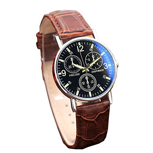 Zakelijk analoog quartz horloge, klassiek heren- en dameshorloge met digitaal kompas (koop er een, krijg er een gratis) (willekeurig),Brown