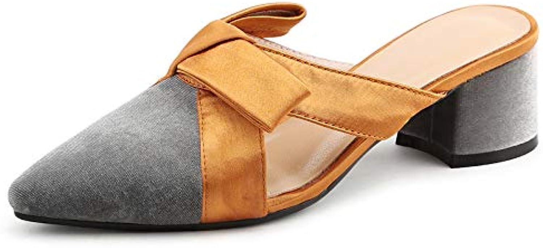MENGLTX High Heels Sandalen 2019 Elegante Frauen Bowknot Hochzeit Schuhe Frau High Heels Cloed Toe Pumps Modemarke Pantoletten Schuhe Sandalen