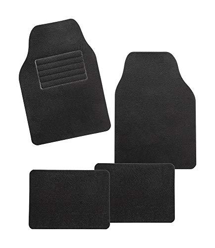 CarFashion 283846 Universal Auto Fußmatten Set Rivazza, Automatte Passend für Fast alle Autos, 4 Teiliges Set ohne Mattenhalter