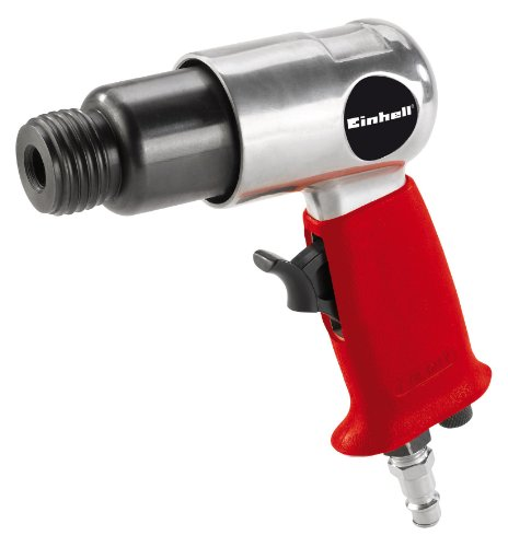 Einhell Druckluft-Meisselhammer DMH 250/2 (6,3bar max., Alu-Druckguss Gehäuse, rutschsicherer Handgriff, inkl. 4-tlg. Meisselset & Transportkoffer)
